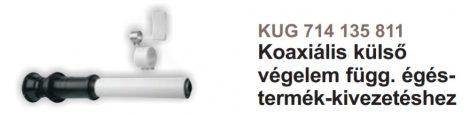 Baxi 60/100 pps/alu koaxiális külső végelem függőleges kiv.  KUG714135811
