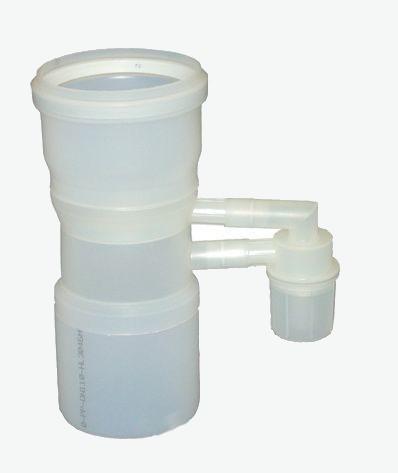 Baxi 110/110 mm pps kaszkád füstgázcsatlakozó idom visszacsapószeleppel  7106821