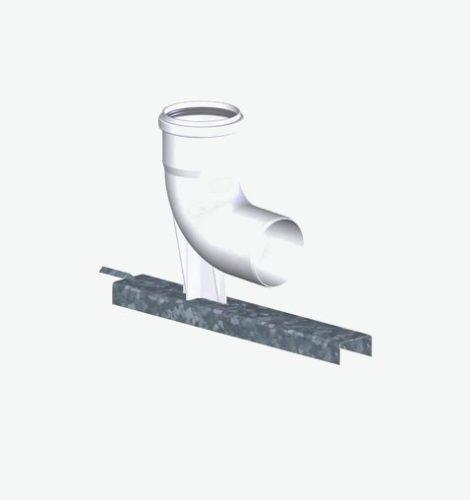 Tricox PPs bekötő könyök 60 mm tartó sínnel  PBK10