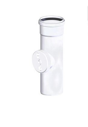 Tricox PPs ellenőrző egyenes idom 80 mm  PEE20