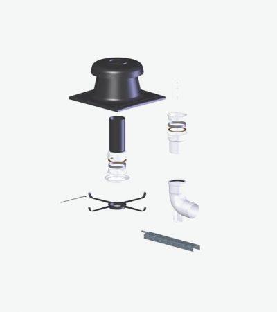 Tricox PPs flexibilis készlet 110 mm   FK80