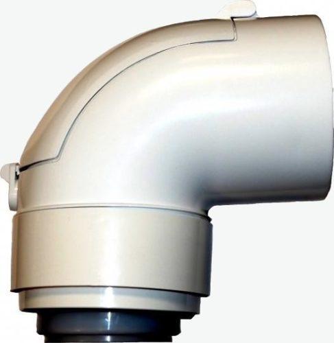 Tricox PPs/alu ellenőrző könyök 80/125 mm 87°  PAEKÖ60C