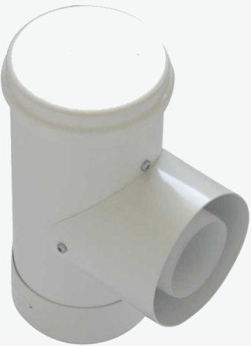 Tricox PPs/alu ellenőrző T-idom 60/100 mm  PAET50C