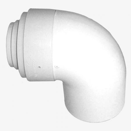 Tricox PPs/alu könyök 80/125 mm 87°  PAKÖ601C