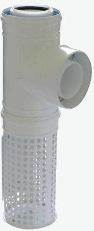 Tricox PPs/alu kültéri T-idom 80/125 mm levegő kosárral  PAKT60