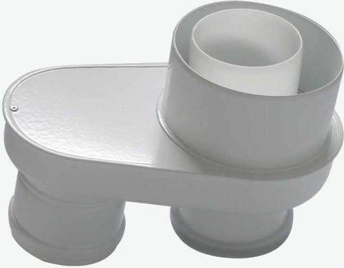 Tricox PPs/alu osztó adapter 80/125 - 2x80  PAD6020