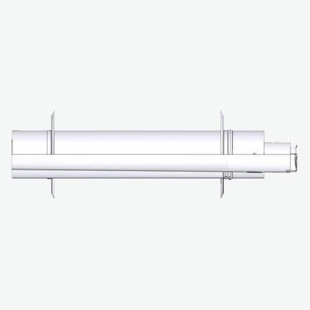 Tricox PPs/alu parapet 60/100 mm 2 db takarólemezzel  PAPA50 oldalfali elvezetés