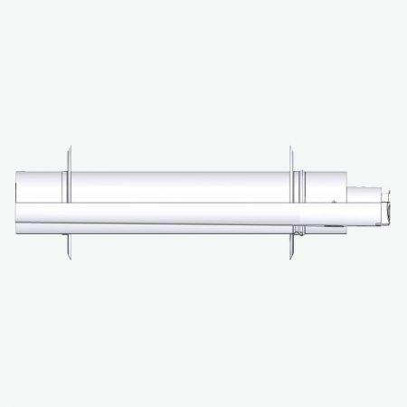 Tricox PPs/alu parapet 80/125 mm 2 db takarólemezzel  PAPA60