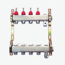 """FixTrend szelepes osztó-gyűjtő 2 körös, áramlásmérővel 1""""-3/4""""  220ACTP2-06-02D"""
