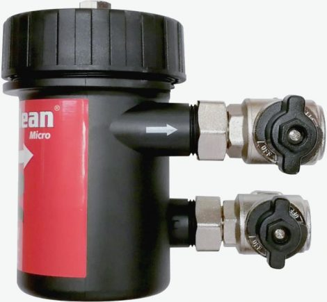 Adey MagnaClean Micro 1 Black kombinált golyóscsappal, 22 mm