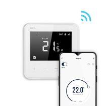 BVF 801 önálló WiFi okostermosztát Üveg előlap prémium, FEHÉR Levegő+padlósz.3m