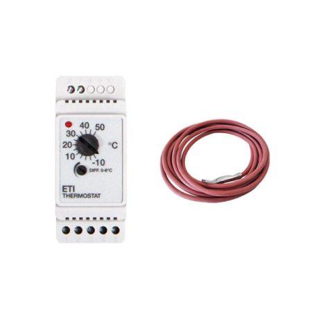 BVF ETI-1551 termosztát csőkisérő fűtéshez + EFT-622 hőmérséklet szenzor