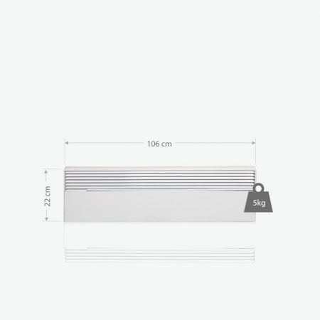 BVF NOIROT MELODIE MODEL-W 1000(W) 1060 x 220 x 102 (mm ) Elektromosfűtőpanel