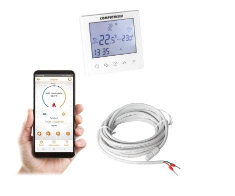 COMPUTHERM E280 Wi-Fi termosztát rad.- és padlófűtési rendszerekhez fehér üveg