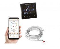 COMPUTHERM E300 Wi-Fi termosztát rad.- és padlófűtési rendszerekhez fekete üveg
