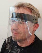 J. Arcvédő pajzs plexi az alapanyag 0,8 mm víztiszta pet lemez (maszk)